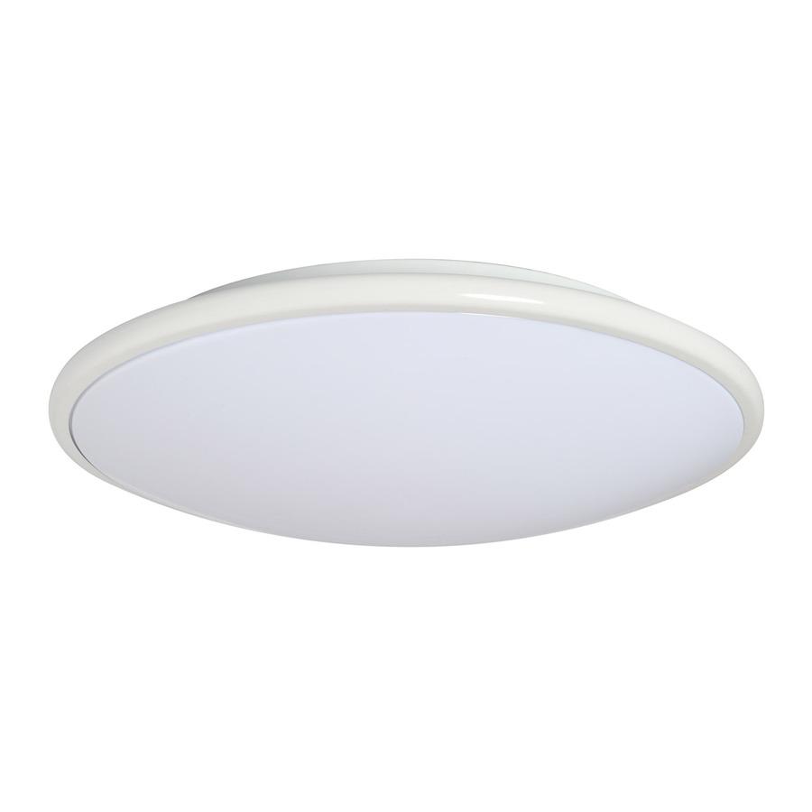 shop amax lighting led ceiling fixtures 13 in w white led ceiling. Black Bedroom Furniture Sets. Home Design Ideas