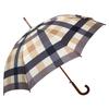 """Laura Ashley Garden 2'1"""" Mitford Check Charcoal Round Patio Umbrella"""