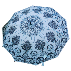 "Laura Ashley Garden 2'1"" Josette Duck Egg Round Patio Umbrella"