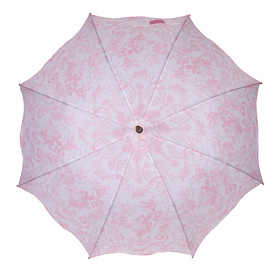 Laura Ashley Garden 2-ft 1-in x 2-ft 1-in Pink Round Patio Umbrella