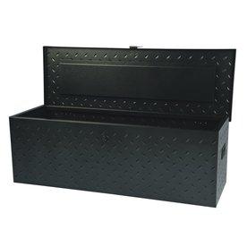 International Tool Storage 45-3/8-in x 15-1/4-in x 15-1/8-in Black Steel Full-Size Truck Tool Box