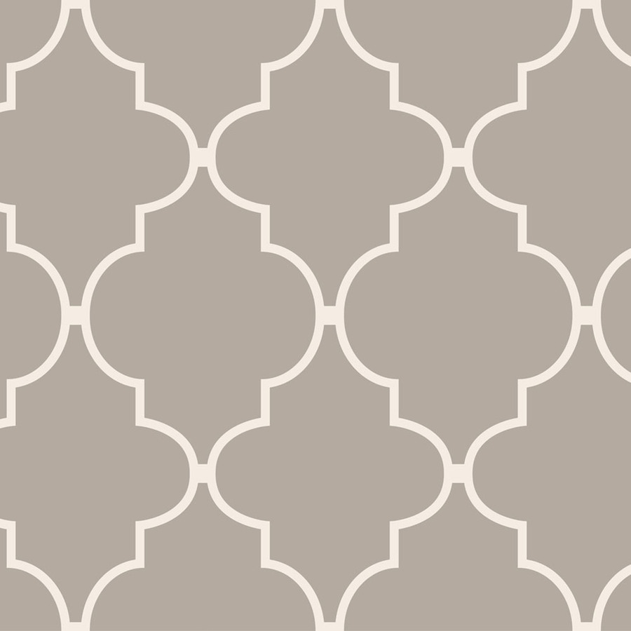 Shop allen roth taupe peelable vinyl prepasted textured for Peelable wallpaper