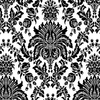 allen + roth Black Strippable Non-Woven Paper Unpasted Classic Wallpaper