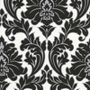allen + roth Black and White Strippable Non-Woven Paper Unpasted Textured Wallpaper