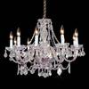 Weinstock Illuminations 10-Light Chrome Crystal Chandelier