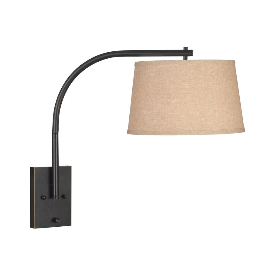 Wall Mount Lamp With Shade : Shop Kenroy Home 23-in H Oil Rubbed Bronze Wall-Mounted Lamp with Fabric Shade at Lowes.com