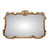 Hickory Manor House Buffet 44-in x 34-in Gold Leaf Polished Rectangle Framed Wall Mirror