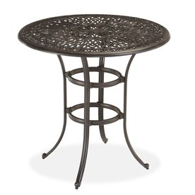 42 in charcoal round aluminum patio bar height table at lowes com