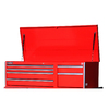 International Tool Storage Value 19.1-in x 55.5-in 6-Drawer Ball-Bearing Steel Tool Chest (Red)