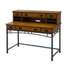 Home Styles Modern Craftsman Distressed Oak/Deep Brown Executive Desk