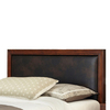 Home Styles Duet Rustic Cherry/Brown King/Cal King Bonded Leather Upholstered Headboard