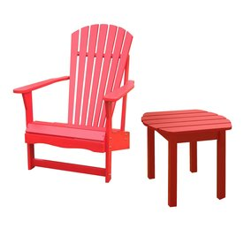 Shop International Concepts Red Patio Adirondack Chair at