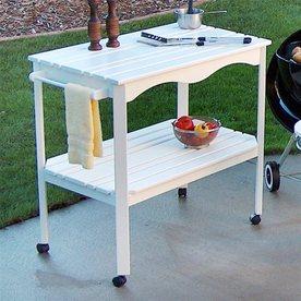 Prairie Leisure Design 35-in H x 21-in W x 36-in D Wood Outdoor Cart