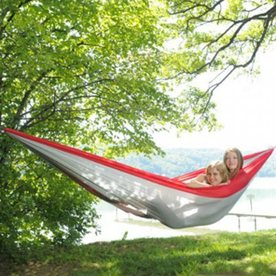 Byer of Maine Amazonas Traveller Red/Grey Fabric Hammock