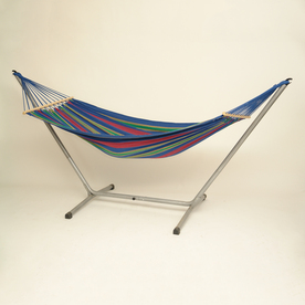 Byer of Maine Amazonas Aruba Juniper Blue Fabric Hammock with Stand