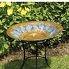 ACHLA Designs 4-in H 1-Tier Round Metal Birdbath