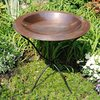 ACHLA Designs Classic 3-in H 1-Tier Round Metal Birdbath
