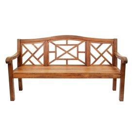 ACHLA Designs Carlton 26.75-in W x 72.5-in L Natural Oil Eucalyptus Patio Bench