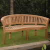 Anderson Teak Curve 26-in W x 64-in L Natural Teak Patio Bench