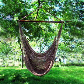 Phat Tommy Outdoor Oasis Mocha Woven Hammock Chair