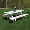 Dura-Trel 8-ft White Rectangle Picnic Table