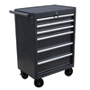 WEN 38.9-in x 27.2-in 6-Drawer Ball-Bearing Steel Tool Cabinet (Black)