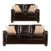 Boston Loft Furnishings 2-Piece Gregoria Chocolate Living Room Set