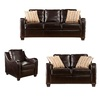 Boston Loft Furnishings 3-Piece Gregoria Chocolate Living Room Set