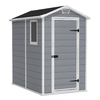 Keter Manor Gable Storage Shed (Common: 4-ft x 6-ft; Actual Interior Dimensions: 3-ft 7.7-in x 5-ft 9.7-in)