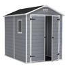 Keter Manor Gable Storage Shed (Common: 6-ft x 8-ft; Actual Interior Dimensions: 5-ft 6.5-in x 7-ft 3.4-in)