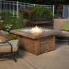 Outdoor Greatroom Company Sierra 43-in W 80,000-BTU Mocha Faux Stone Propane Gas Fire Table