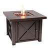 Fire Sense 38-in W 40000-Btu Bronze Portable Steel Liquid Propane Fire Table
