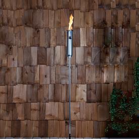 Fire Sense 2-Pack Tivoli 77-in Polished Aluminum Metal Fire Torch