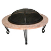 Fire Sense 39-in W Black Steel Wood-Burning Fire Pit
