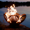 Fire Pit Art 36-in W Iron Oxide Patina Steel Wood-Burning Fire Pit