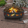 Landmann USA Super Sky 43-in W Black Steel Wood-Burning Fire Pit