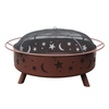 Landmann USA Super Sky 43-in W Georgia Clay Steel Wood-Burning Fire Pit