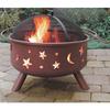Landmann USA Big Sky Stars and Moons 29.5-in W Georgia Clay Steel Wood-Burning Fire Pit