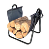 Landmann USA 21-in x 18.5-in x 16-in Metal Log Holder with Canvas Carrier
