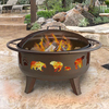 Landmann USA 36-in W Metallic Brown Steel Wood-Burning Fire Pit