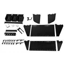 Wall Control 27-Piece Black Accessory Starter Kit