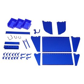 Wall Control 27-Piece Blue Accessory Starter Kit