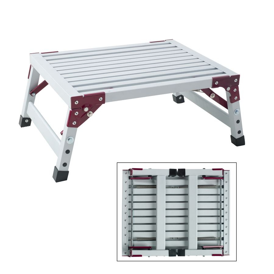 Shop Gpl 1 Step Aluminum Step Stool At Lowes Com