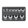 KD Tools 11-Piece Crowfoot Polished Chrome Standard (SAE) Wrench Set