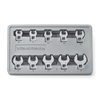 KD Tools 10-Piece Crowfoot Polished Chrome Metric Wrench Set
