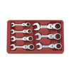 KD Tools 7-Piece Short Ratchet Wrench Set with Case