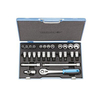 Gedore 27-Piece Metric 1/2-in Drive Socket Set with Case