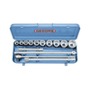Gedore 14-Piece Metric 3/4-in Drive Socket Set with Case