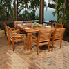 International Home Amazonia Wood Patio Dining Set