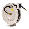 Primefit Industrial Grade Retractable Air Hose Reel with 50-Foot Rubber Air Hose